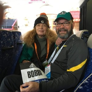 Bobbi - John P - on bus