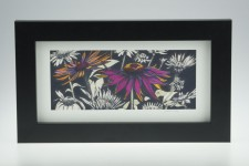 'Pink Echinacea on Dark Umber'
