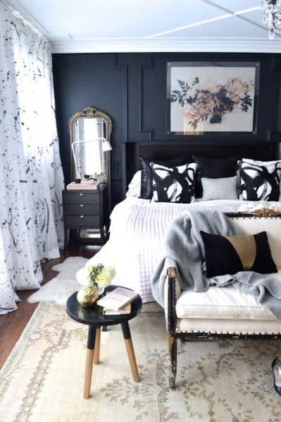 dark bedroom wall idea Inspiration: Ceilings | lark & linen