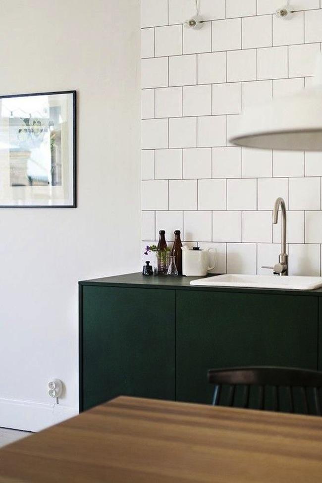 Inspiration Emerald Green Kitchens  lark  linen