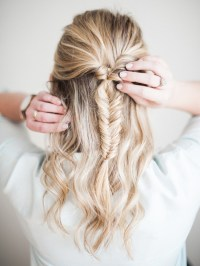 Half-Up Fishtail Braid Tutorial | lark & linen