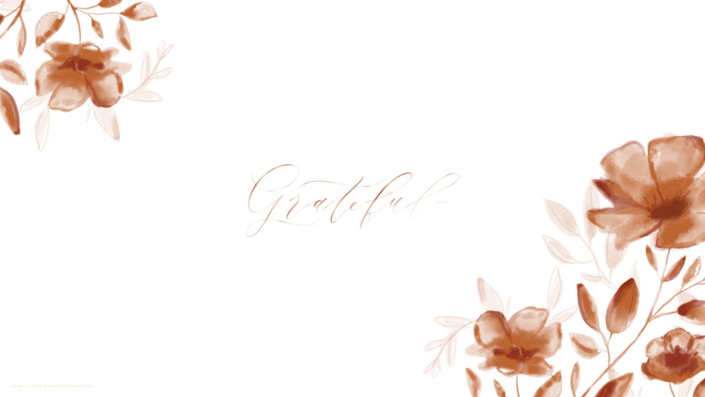 Fall Heart Leaves Background Wallpaper Free Fall Floral Desktop Wallpaper Lark Amp Linen
