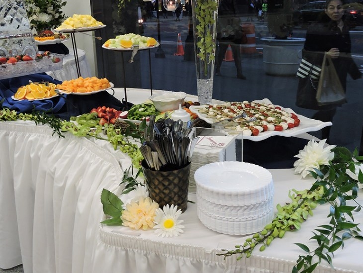 Buffet Set Up at Corporate Event