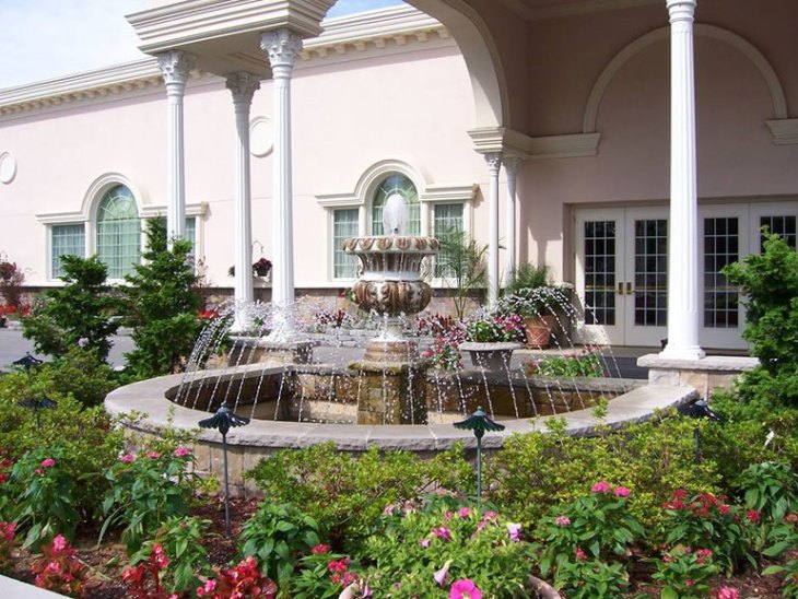 Beautiful Fountain for Backdrops at Jacques Reception Center