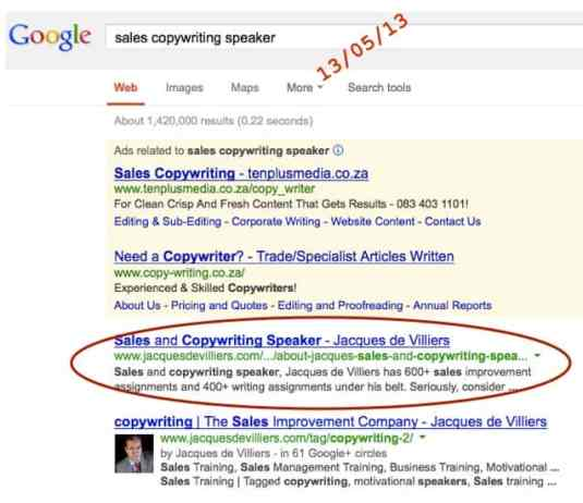 Jacques de Villiers is a sales copywriting speaker