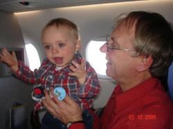 C'est moi Félix pour la première fois en avion.