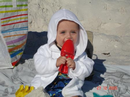 C'est moi à la plage! - Félix