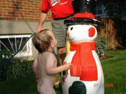 Été 2006 - Visite du bonhomme de neige!