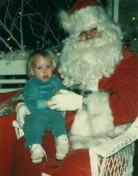 Marc-André chez la Père Noël en 1980.