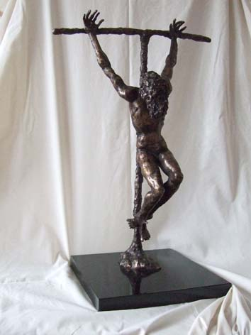 Bronze statue of one of the Maquettes for the Crucifixion for St Peters Plymouth