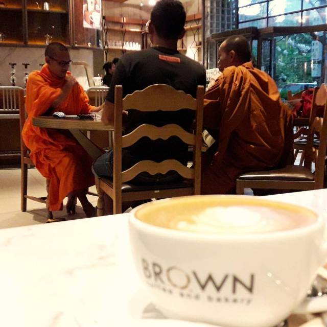Coffee shop monks