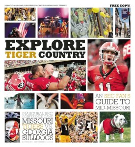 Missouri Tigers Vs. Georgia Bulldogs Explore Tiger Country Second Edition designed by JA Creative Group