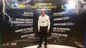 "Prefeito participa de Seminário sobre ""Desafio de Final de Mandato"" na CNM"