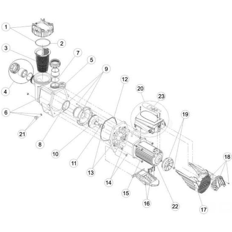 Parts for Jacuzzi® J-VSP150 Variable Speed In Ground Pool