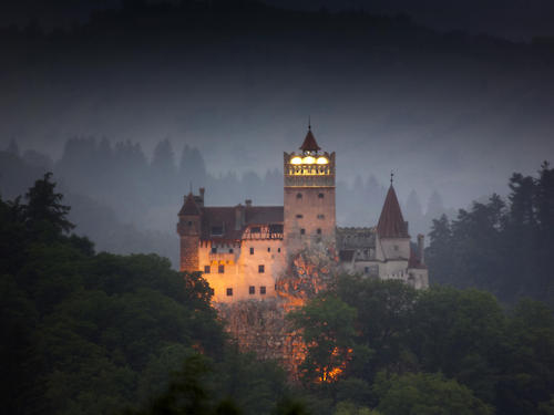 Eerie, Bran Castle, Transylvania