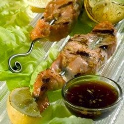 Seafood – Grilled Salmon Skewers