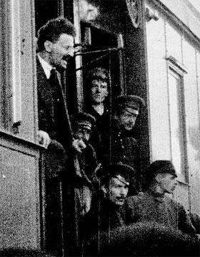 Trotsky a Petrograd il 4 maggio 1917 dc