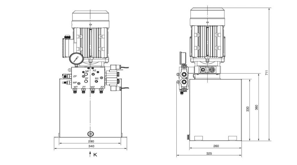 Power Units For mobile scissor lift, electric hydraulic