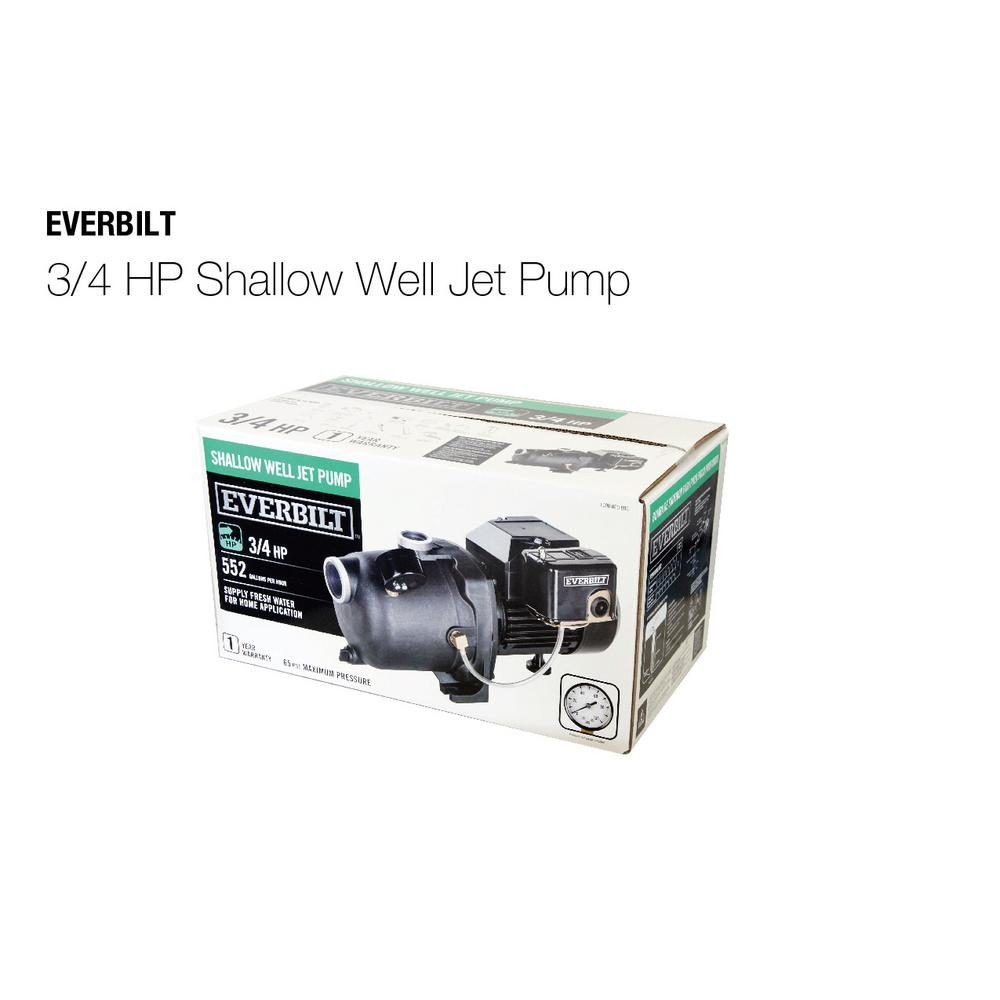 Everbilt 3/4 HP Shallow Well Jet Pump for sale in Jamaica