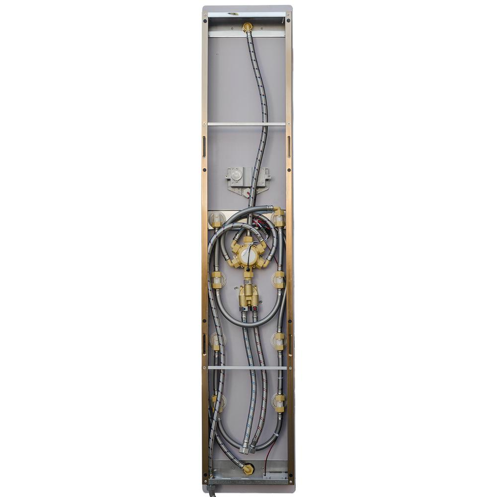 wholesale kitchen appliances small stove akdy 52 in. 8-jet shower panel system in gold tempered ...