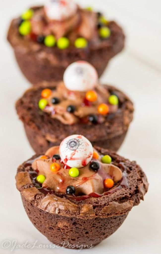 Halloween Treats - Leaky Cauldron Brownies