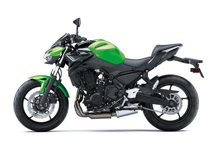 Z650 2020 color verde con chasis negro