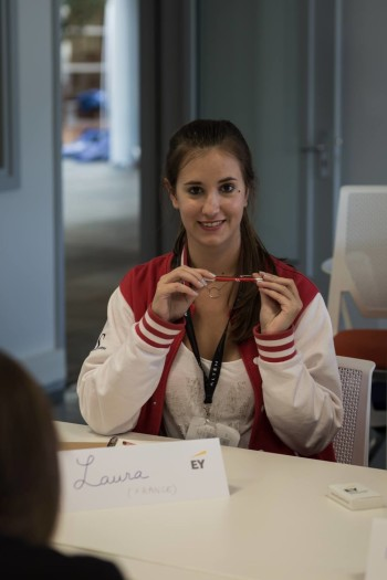 Laura in the EY workshop