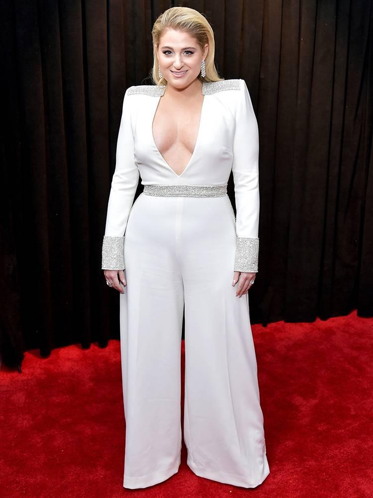 Grammy 2019: Meus looks favoritos dos famosos no tapete vermelho Meghan Trainor