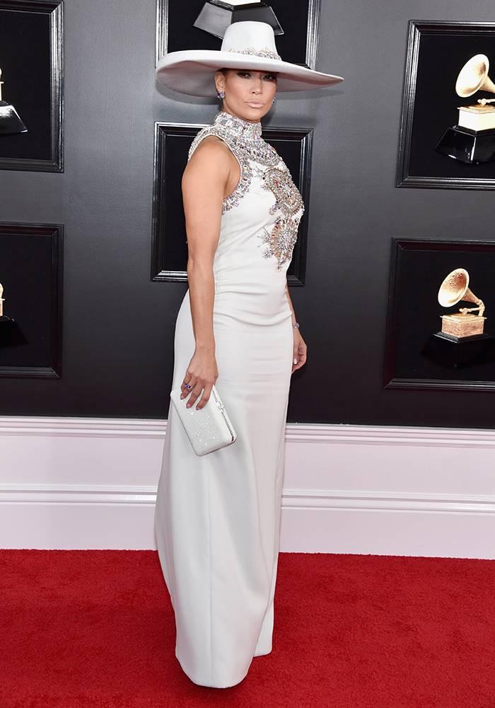 Grammy 2019: Meus looks favoritos dos famosos no tapete vermelho Jennifer Lopez