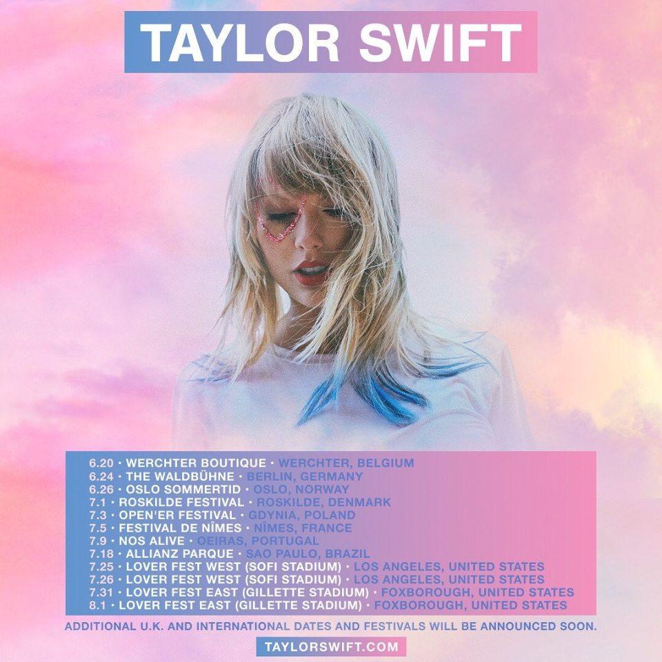 Taylor Swift fará um show no Brasil em 2020!