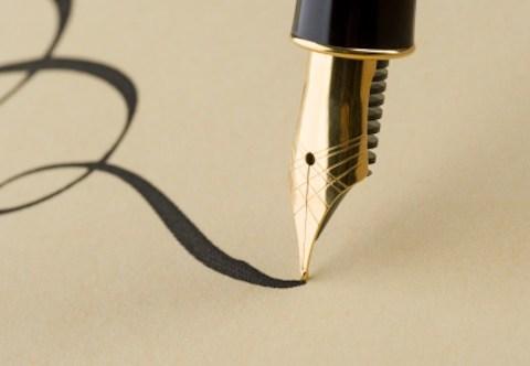 Writing in pen