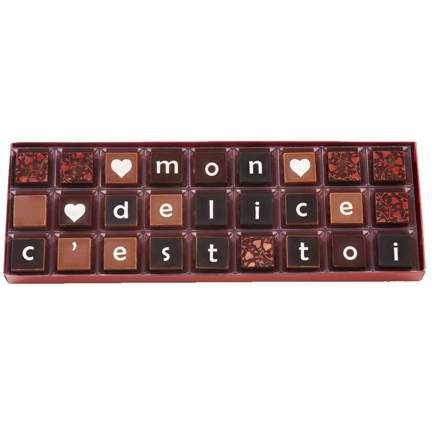 Boite Chocolat Message Saint Valentin