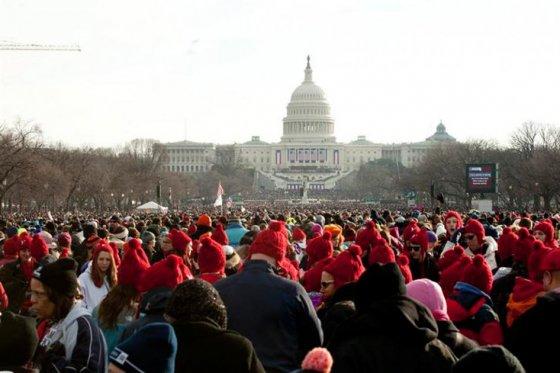 Público en el acto inaugural del segundo mandato del presidente Barack Obama