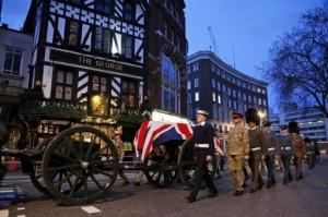 Cortejo fúnebre Margaret Thatcher
