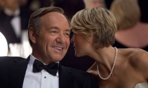 "Kevin Spacey y Robin Wright  en ""House of Cards"""