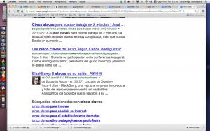 5 claves en google