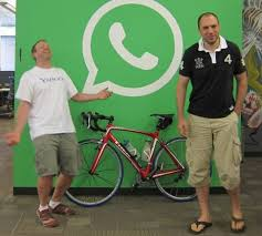 Brian Acton y Jan Koum, creadores de Whatsapp