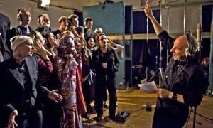 Band Aid 30 en un memento de la grabación