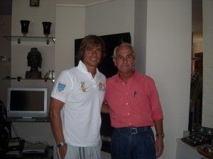 Con  Carlos Baute (agosto 2009)