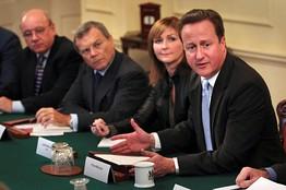 David Cameron con líderes empresariales