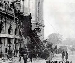 Trágica colisión de tren en Estación de Montparnasse, París (22/10/1895)