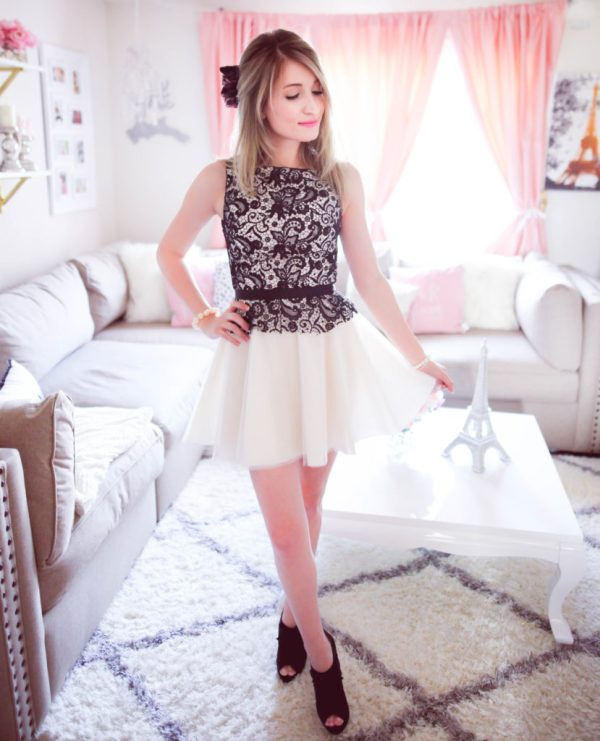 the perfect combination in a feminine dress