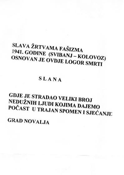 Приједлог измјене текста за нову Спомен плочу, градоначелника Новаље