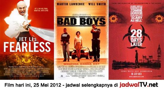 Jadwal Film dan Sepakbola 25 Mei 2012