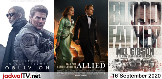 Jadwal Film 16 September 2020