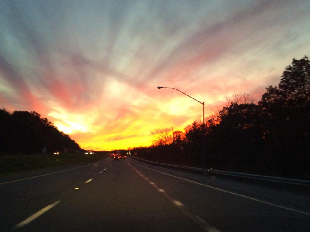 Sunset on 99
