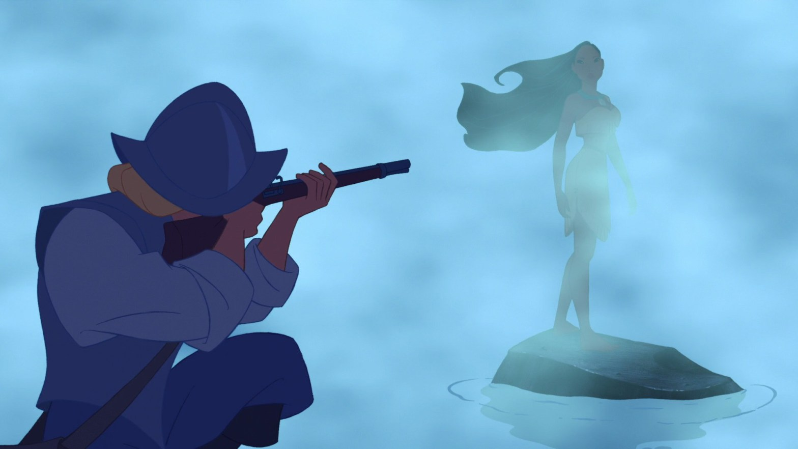Pocahontas and John Smith first meet in the 95 film