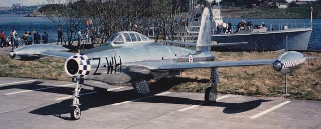 Museets første fly var en F-84G Thunderjet
