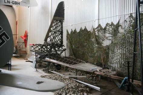 Antiluftskytset er flyttet noe, og har byttet plass med Wellington utstillingen. Her gjenstår det fortsatt noe arbeid.