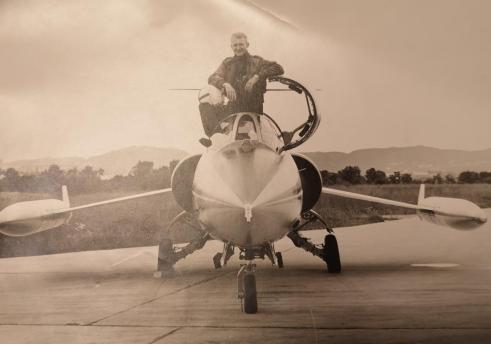 Gjennom størsteparten av sin militære karriere fløy Siegfried Hernes F-104G Starfighter ved 331 skvadron i Bodø. Foto via Siegfried Hernes.